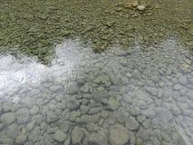 Piedras en el río de la cascada en España foto de archivo