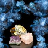 Piedras en fondo del humo Imagenes de archivo