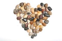 Piedras en forma de corazón imagen de archivo