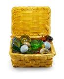 Piedras en la cesta Imágenes de archivo libres de regalías