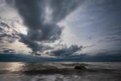 Piedras en la orilla del mar Báltico Fotos de archivo libres de regalías