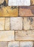 piedras en la pared de la torre de Qutub Minar, el alminar m?s alto del ladrillo del mundo fotografía de archivo libre de regalías