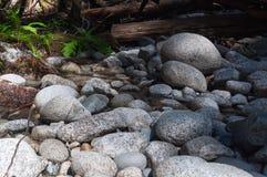 Piedras en la parte inferior seca de Tye River 2 imagenes de archivo