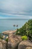 Piedras en la playa de Lamai Imagen de archivo libre de regalías