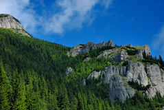 Piedras en montañas del ceahlau Fotos de archivo libres de regalías