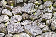 Piedras en musgo verde Fotografía de archivo