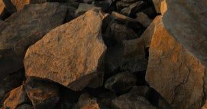 Piedras enormes, textura, granito almacen de video