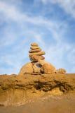 Piedras equilibradas del zen Imagen de archivo