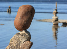Piedras equilibradas en el festival Imagenes de archivo