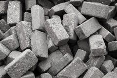 Piedras grises para la pavimentación del camino del adoquín Fotografía de archivo libre de regalías