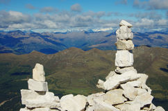 Piedras llenadas en la cumbre Fotos de archivo libres de regalías