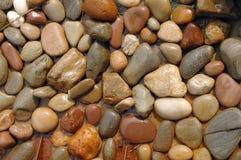 Piedras mojadas Imágenes de archivo libres de regalías