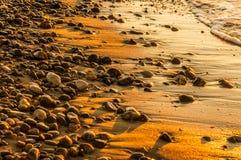 Piedras mojadas Fotografía de archivo