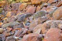Piedras mojadas Foto de archivo