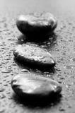 Piedras mojadas del balneario Imágenes de archivo libres de regalías