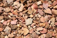 Piedras naturales de los colores calientes. imagen de archivo