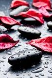 piedras negras Imágenes de archivo libres de regalías