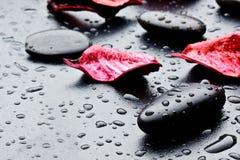 Piedras negras Fotografía de archivo libre de regalías