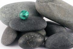 Piedras negras Foto de archivo libre de regalías