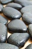 Piedras negras Imagen de archivo libre de regalías