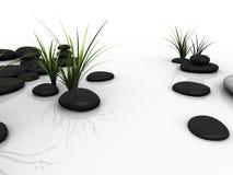 Piedras negras ilustración del vector