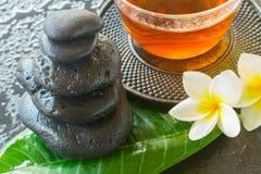 Piedras negras del zen Foto de archivo libre de regalías
