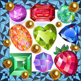 Piedras preciosas capítulo de la imagen Imagen de archivo libre de regalías