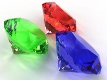 Piedras preciosas de diversos colores ?4 Fotos de archivo libres de regalías