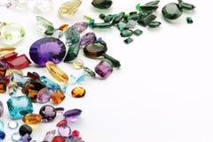 Piedras preciosas en blanco Fotografía de archivo libre de regalías