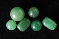 Piedras preciosas semi coloreadas Fotos de archivo libres de regalías