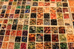 Piedras preciosas semi preciosas Imágenes de archivo libres de regalías