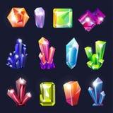Piedras preciosas sin cortar geología de los cristales y recursos naturales de los materiales de la joyería libre illustration