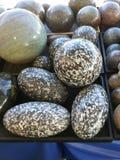 Piedras pulidas demostración de la gema Fotografía de archivo