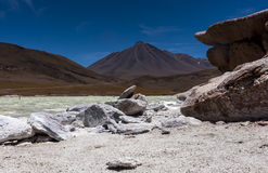 Piedras Rojas, Atacama, chile Arkivbild
