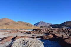 Piedras Rojas rock formation of Atacama desert, in Chile. Riedras Rojas - Red Rocks - is a famous touristical place in the desert of Atacama, Chile. There rocks Royalty Free Stock Photos