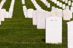 Piedras sepulcrales de Arlington Fotos de archivo
