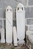 Piedras sepulcrales de la era del otomano en el castillo de Bodrum Imágenes de archivo libres de regalías