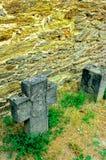 Piedras sepulcrales en castillo alemán Fotos de archivo