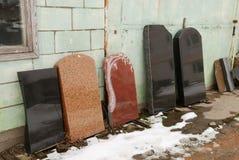 Piedras sepulcrales graves Imagen de archivo libre de regalías