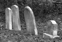 Piedras sepulcrales viejas Fotos de archivo libres de regalías
