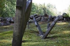 Piedras sepulcrales viejas de Nueva Inglaterra Fotografía de archivo