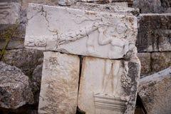 Piedras talladas con la figura en Antioch Fotografía de archivo libre de regalías