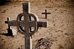 Piedras viejas de la pista del cementerio Fotografía de archivo libre de regalías