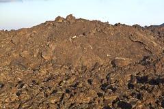 Piedras volcánicas en el parque nacional Timanfaya Foto de archivo libre de regalías