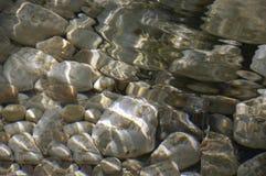 Piedras y agua Foto de archivo libre de regalías