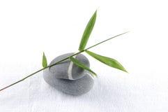 Piedras y bambú Imagen de archivo libre de regalías