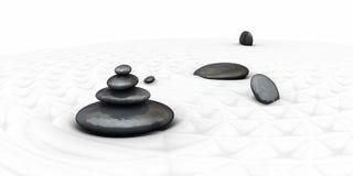 Piedras y bambú del zen Fotos de archivo libres de regalías
