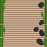 Piedras y brotes de bambú Imagen de archivo