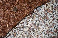 Piedras y césped, fondo Fotografía de archivo