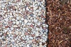 Piedras y césped, fondo Foto de archivo libre de regalías